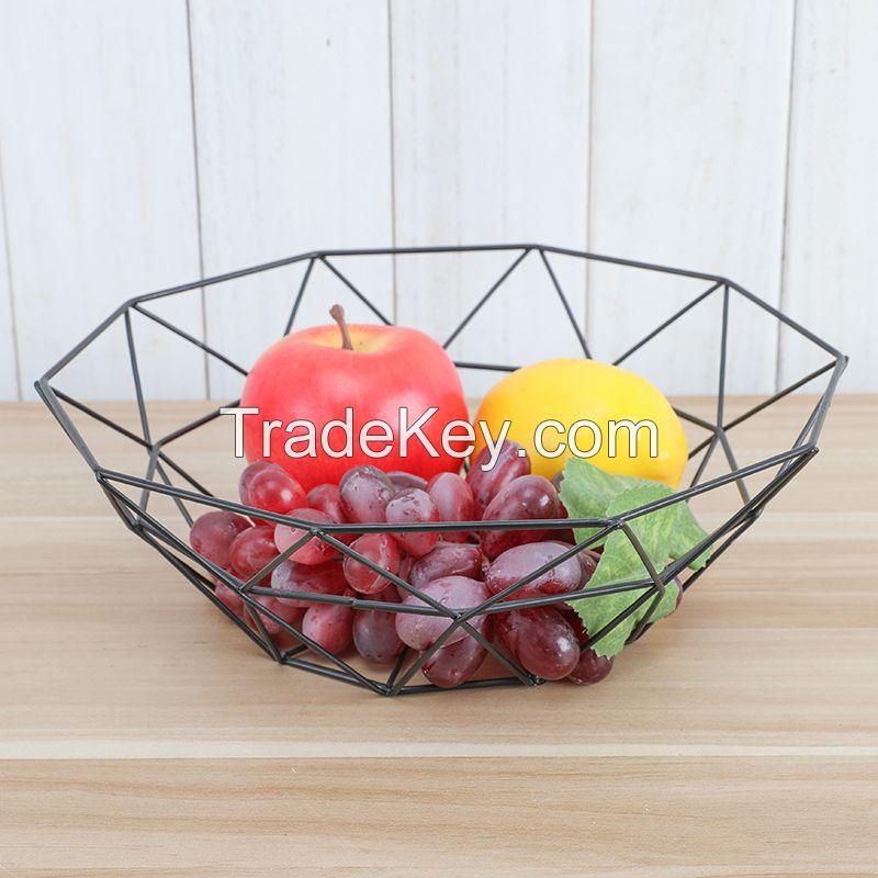 Metal Wire Kitchen Fruit Display Rack Fruit Bowl Basket