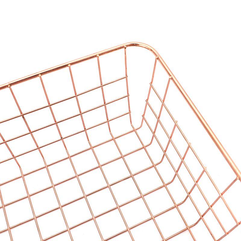 Rose gold metal wire fruit and vegetable storage basket