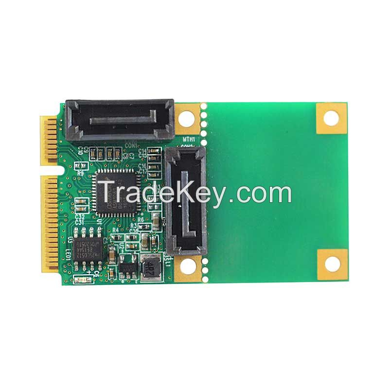 Linkreal Mini PCIe to 2-Port SATA 3.0 Adapter Expansion Card