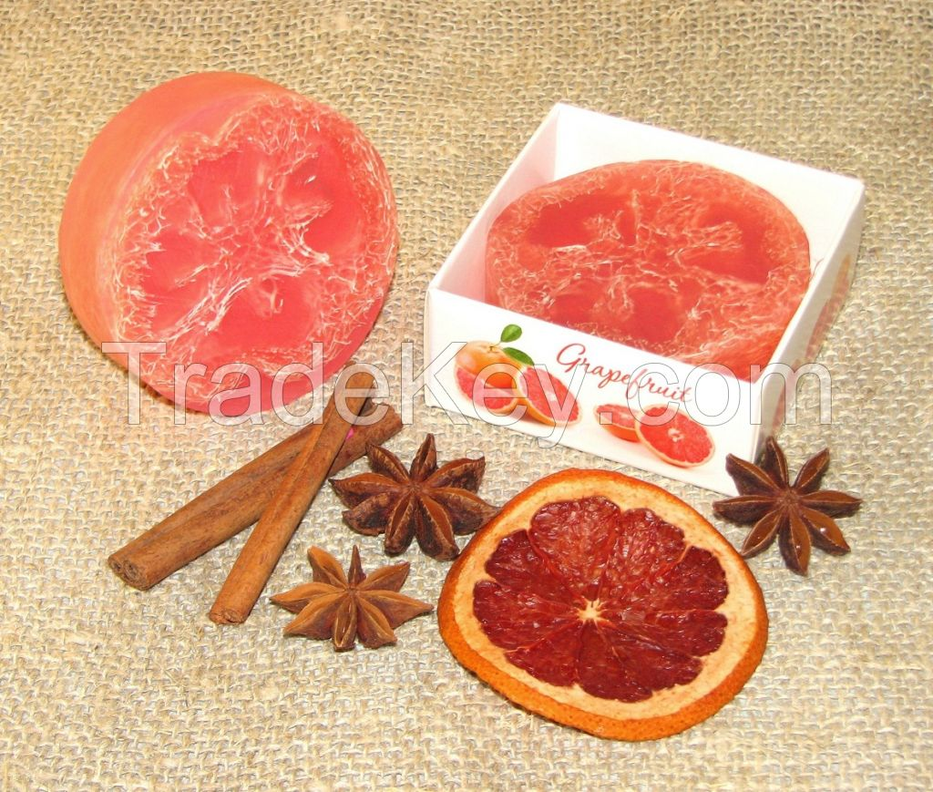 Handmade decorative soap in the package