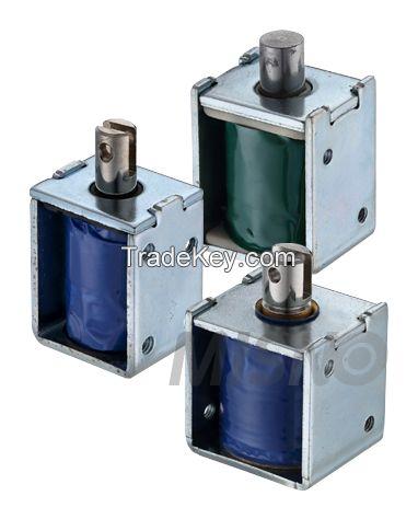 Open Frame Solenoid Electromagnet, Push Pull, DC / AC voltages