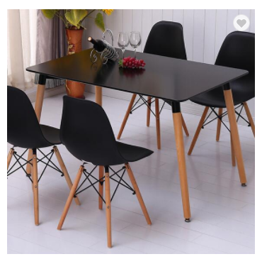 Kitchen furniture black white 4 seater dining room table providers