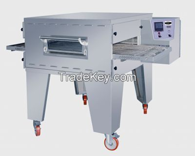 Electric pizza conveyor oven