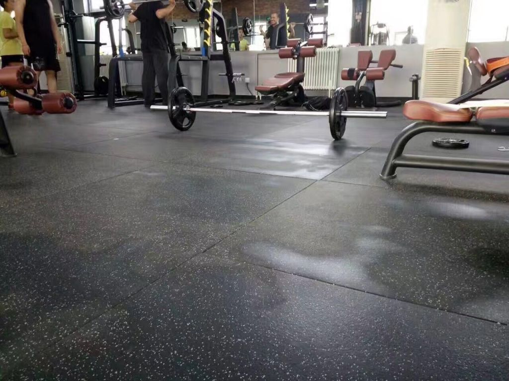Commercial Rubber Gym Flooring 1m x 1m x 25mm