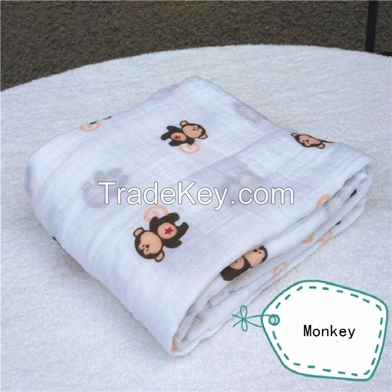 Soft, Breathable Baby Muslin swaddle, Muslin Blanket, Muslin Wrap