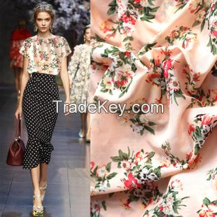 100% Silk fabric available in various color /silk polyester fabric