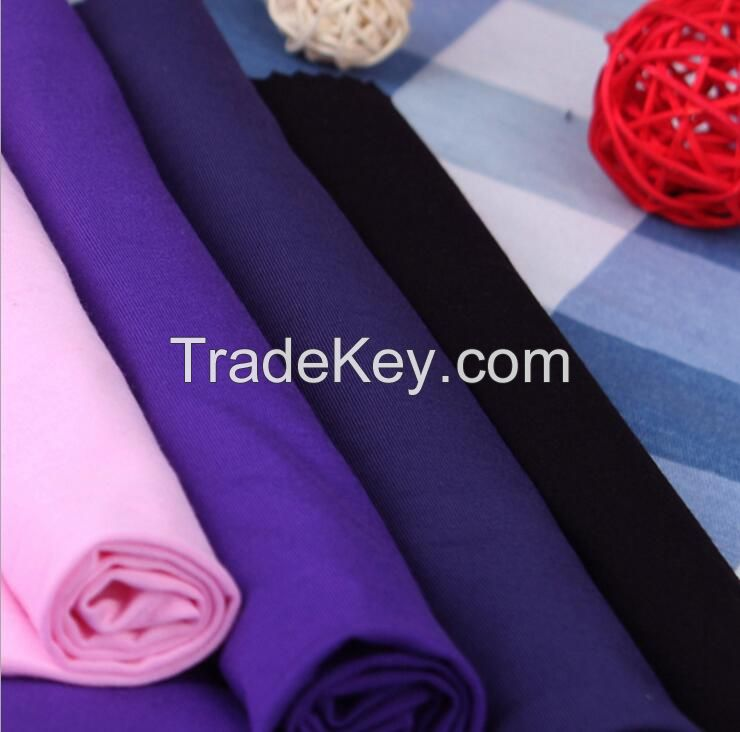 220GSM,94%bamboo 6%spandex stretch jersey T-shirt,underwear fabric