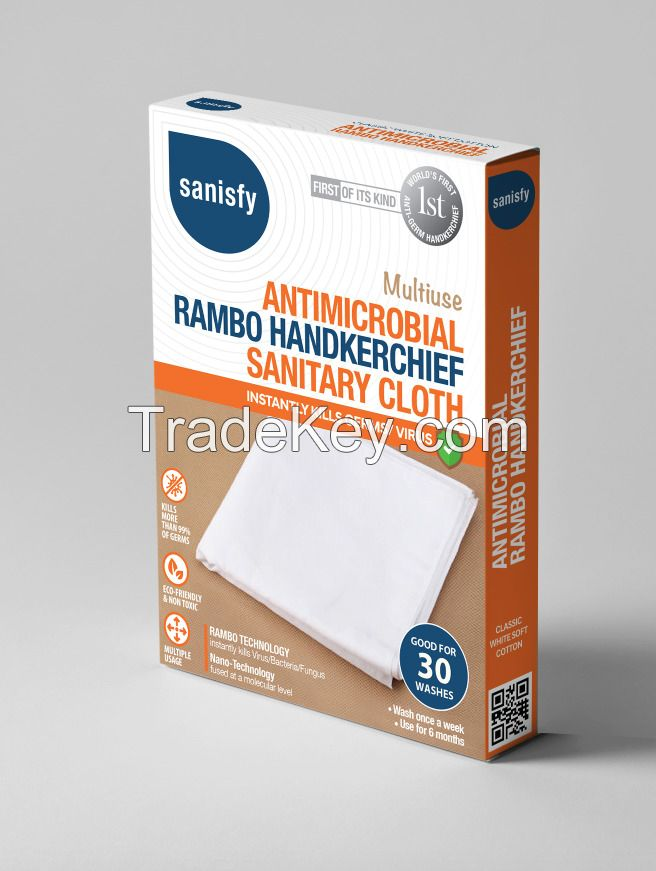Antimicrobial Antiviral Handkerchief