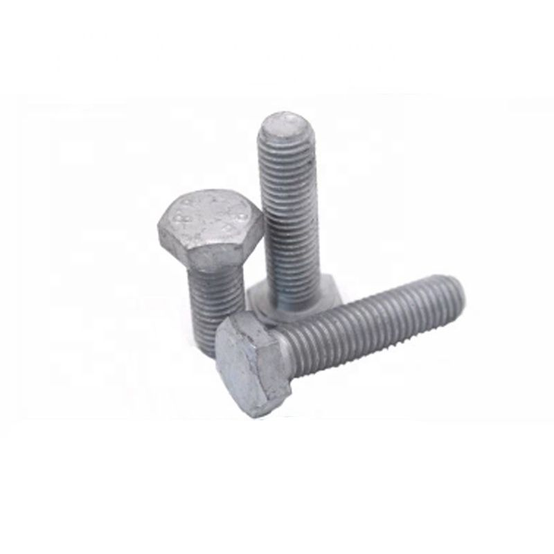 Carbon Steel Hot Dip Galvanized Hex Bolt With Nut And Washer DIN933