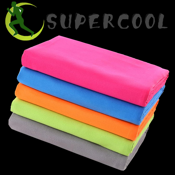Super soft extra fast drying suede sports towel