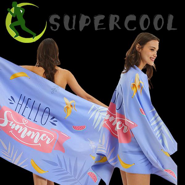 Printed Swimming Beach Travel Towel