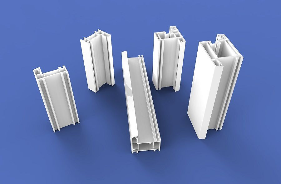 White color 60 Casement Plastic Profiles series