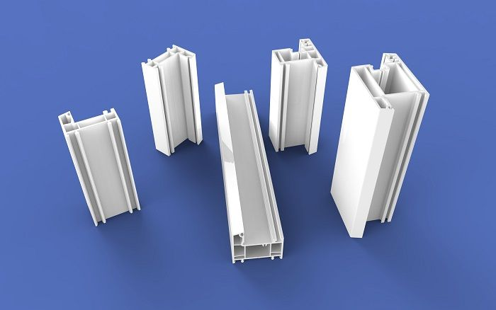 White color 60B Casement Plastic Profiles series