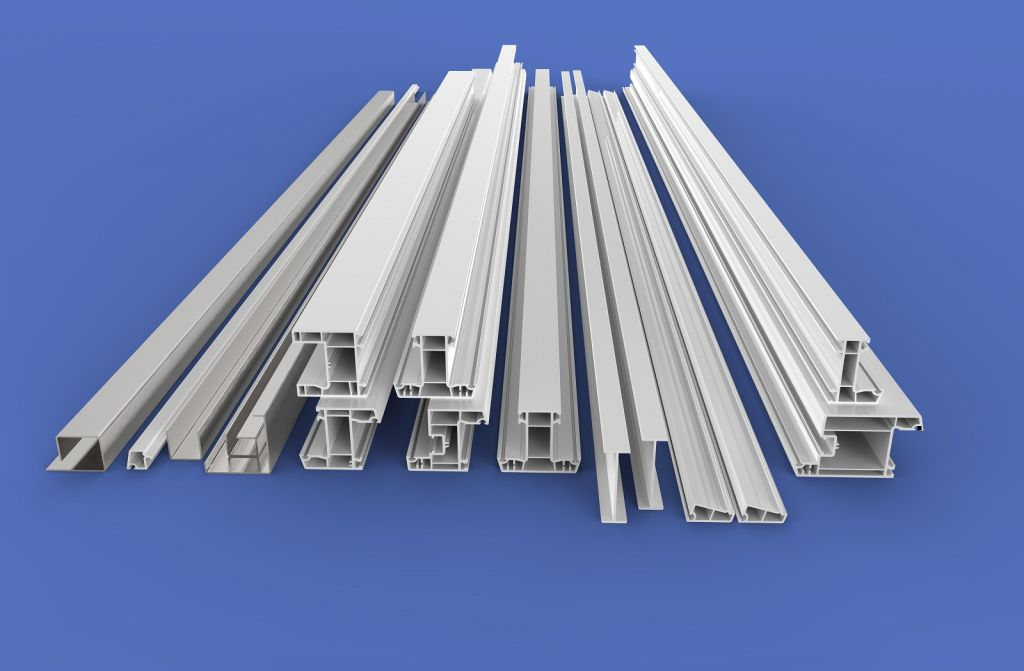 80 sliding white color plastic profiles series