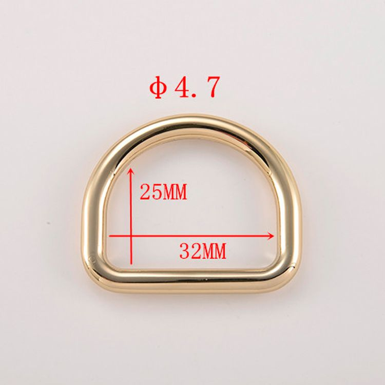 2019 gold bag part zinc alloy d rig meta D ring for belt buckle and luggage