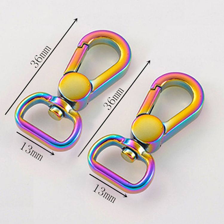 rainbow iridescent lobster claw snap buckle metal trigger hook