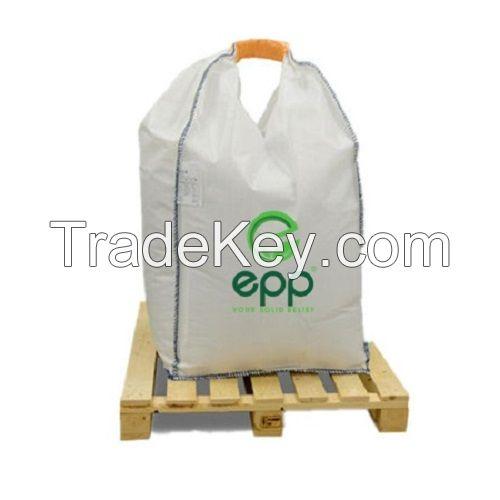 Baffle big bag for grain and powder 0.5 ton 1 ton woven polypropylene Formstable 1m3 U-panel water proof baffle net 1 and 2 loop big bag
