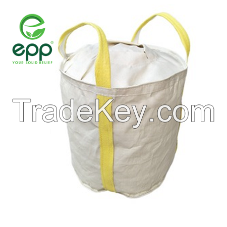 Vietnam 1450D tubular circular dustproof big bag free sample 1100lbs 2200lbs 3300lbs 4400lbs large circular container bags