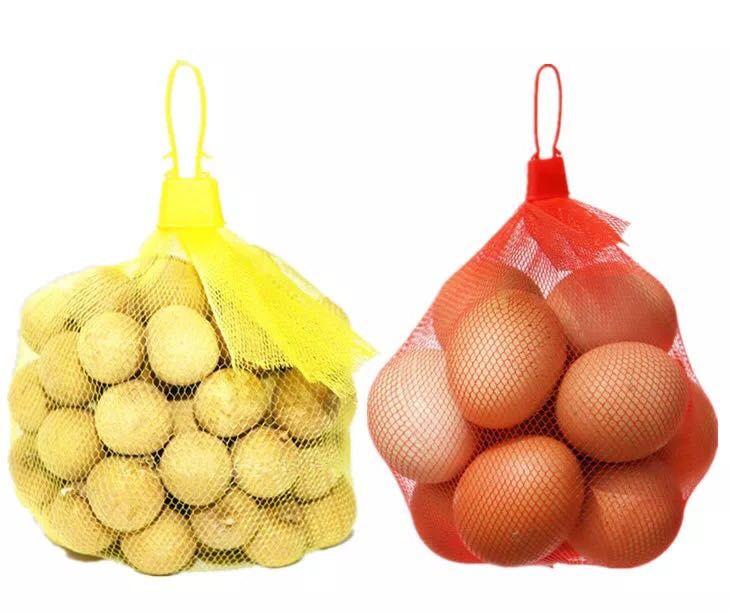 Vegetable packaging Plastic Mesh Bag with Cap