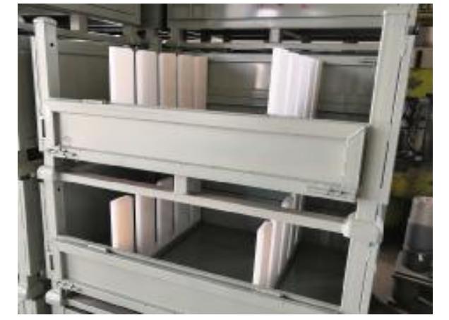 Customize Warehouse Exhaust pipe muffler storage rack Metal Pallet, logistics