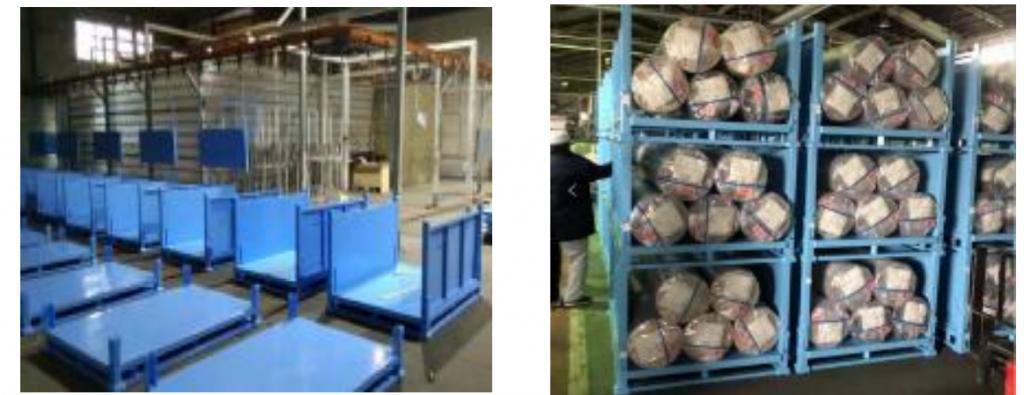 Customize Warehouse Leather storage rack Metal Pallet, logistics