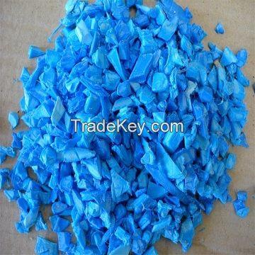 HDPE Drum Regrind plastic scrap/HDPE blue regrind natural Industrial Waste Bottle or Packaging