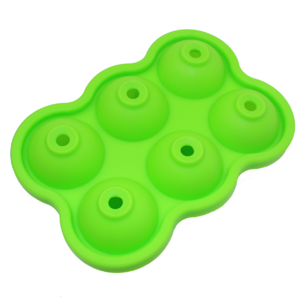 BPA Free Reusable 6 Holes Silicone Sphere Ice Ball Mold