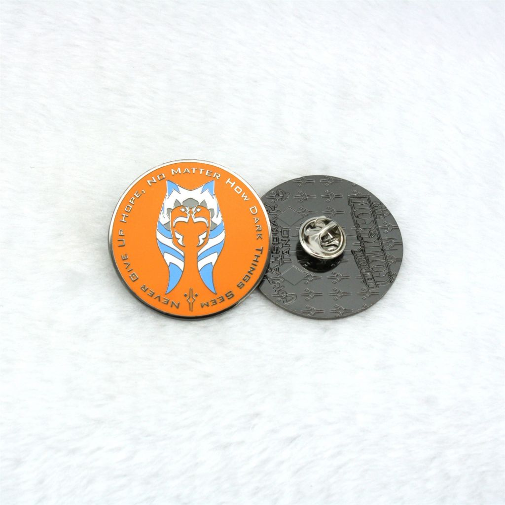Rounded Badge with Butterfly Cap