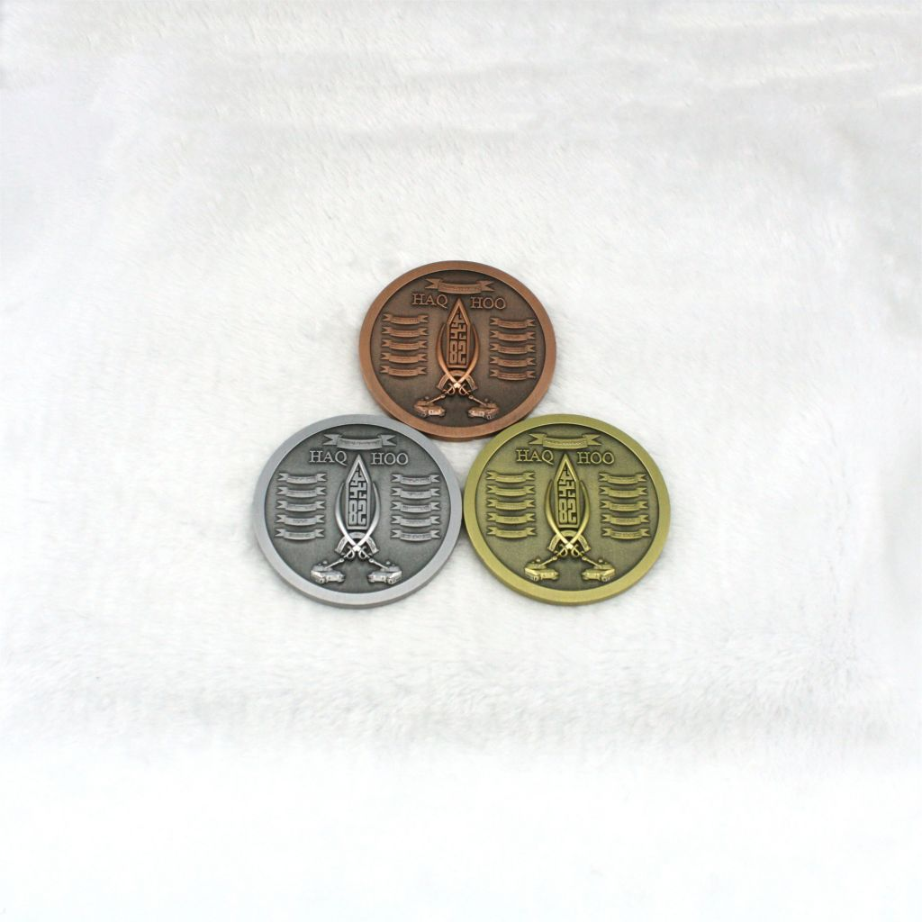 Metal Antique Style Coin Shaped Collection