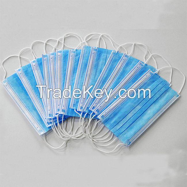 3 PLY Disposable Medical Face Mask, Non Woven Respirator Mask