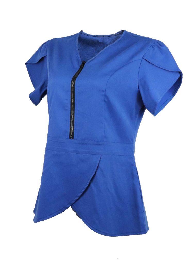 OEM Slim Fit Zipper Stretch New Style Nurse Uniform Designs Nurse Scru