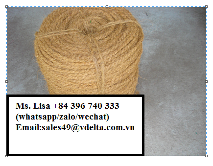 BEST PRICE AND QUALITY COCONUT FIBER ROPE - COIR ROPE FROM VIET NAM/ Ms. Lisa +84 396 740 333