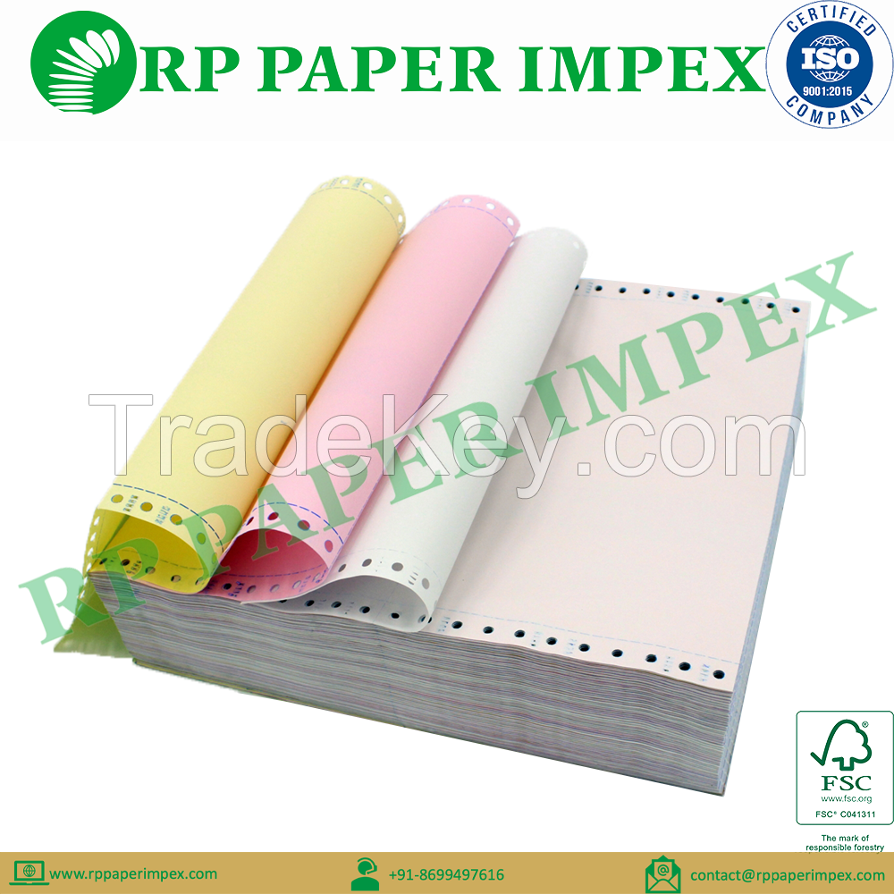 Pre Printed Continuous Computer Paper Form, Customised Size and GSM, Manufacturer Bulk Quantity Supplier