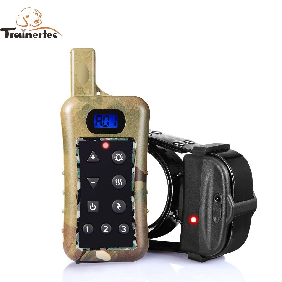 Rechargeable Dog Shock Remote 3200m Training Collar For Hunting Dog