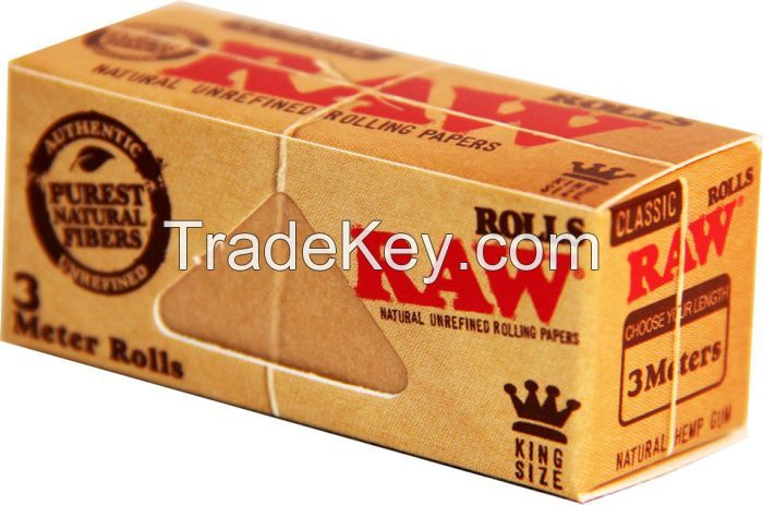RAW SMOKING KING SIZE ROLLING PAPERS FOR SALE