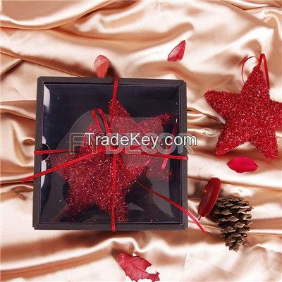 Shiny Red Hanging Star Vintage Gift