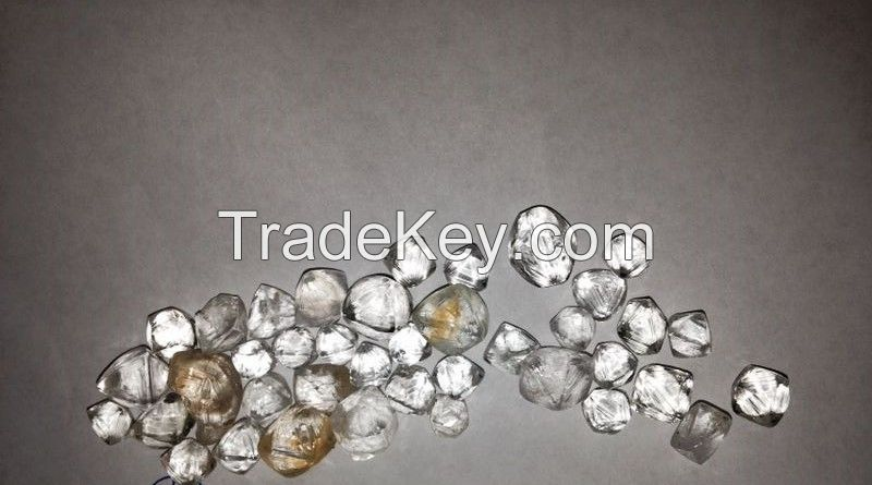Rough Uncut White Diamonds