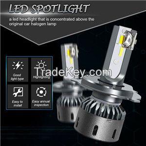 F25c H4 three color temperature intelligent dimming automobile LED headlamp automobile LED headlights