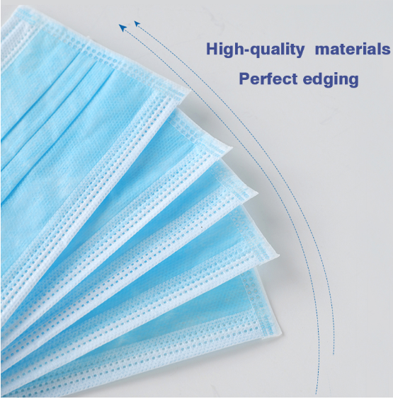 Surgical disposable Mask Anti-virus Dust Proof Face Masks 3 Layers Non-woven Mask