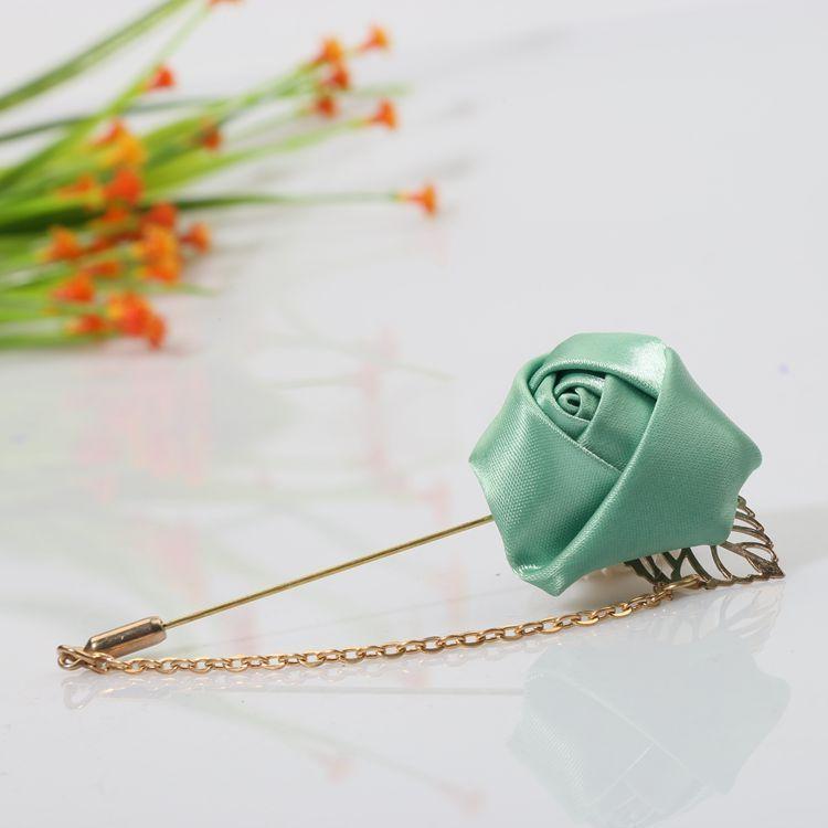 New Jewelry Hand Made Brooch Men and Women Rose Flower Chain Brooch Shirt Collar Pins Brooch Flower Accessories