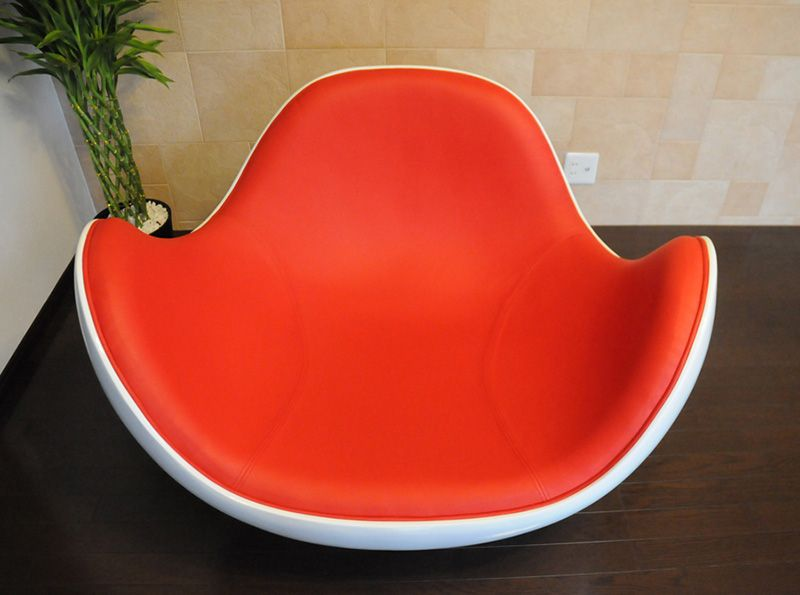Modern Fiberglass Material Ball Shaped placentero lounge chair for living room