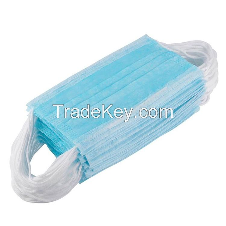 Disposable medical dust mouth surgical face mask three layers sterility mask