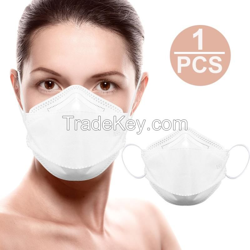 N95 mask with CE FDA Certification Adult Vertical Folding Nonwoven Valved Dust Mask PM 2.5 Mouth Mask Protective Mask
