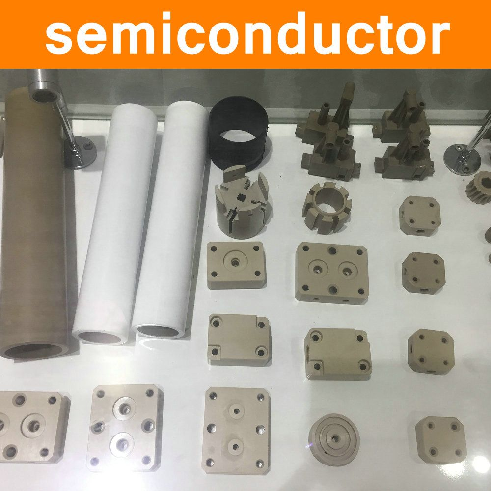 PEEK Parts in Semiconductor Industry Part Polyetheretherketone Components Fittings Virgin Pure Material