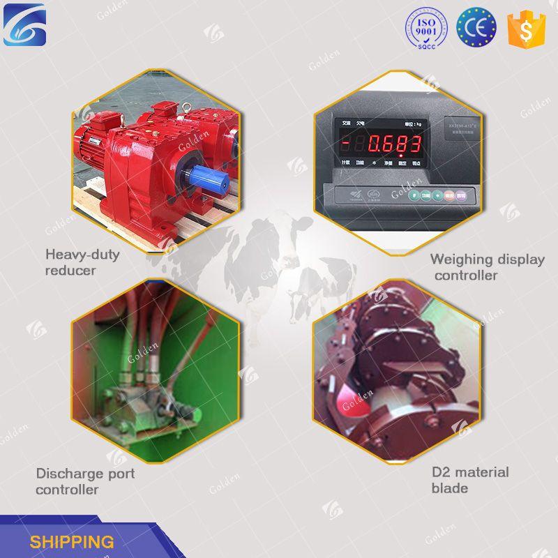 China horizontal feed mixer TMR fodder mixer