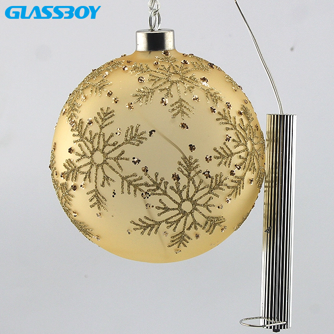 2020 New Arrival Battery Operated Decorative Christmas Glass Ball with Led String Light For Holiday Party Home Decoration