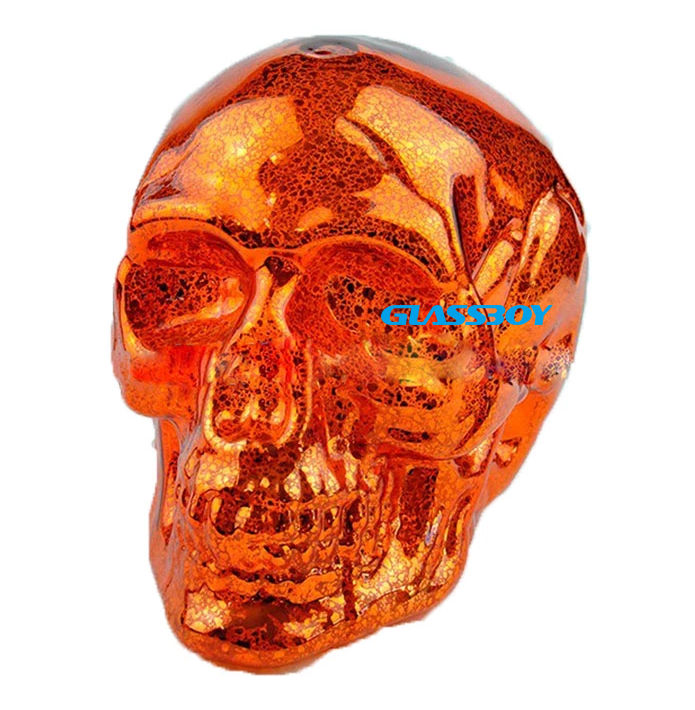 Custom design decorative craft glass pumpkin shaped ornaments for Halloween