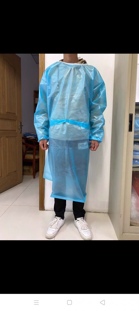 DISPOSABLE PROTECTIVE COVERALL/CLOTHES/ISOLATION GOWN