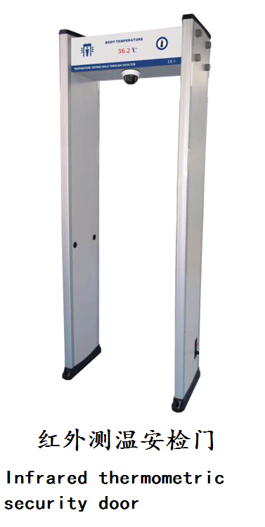 Infrared thermometric security door