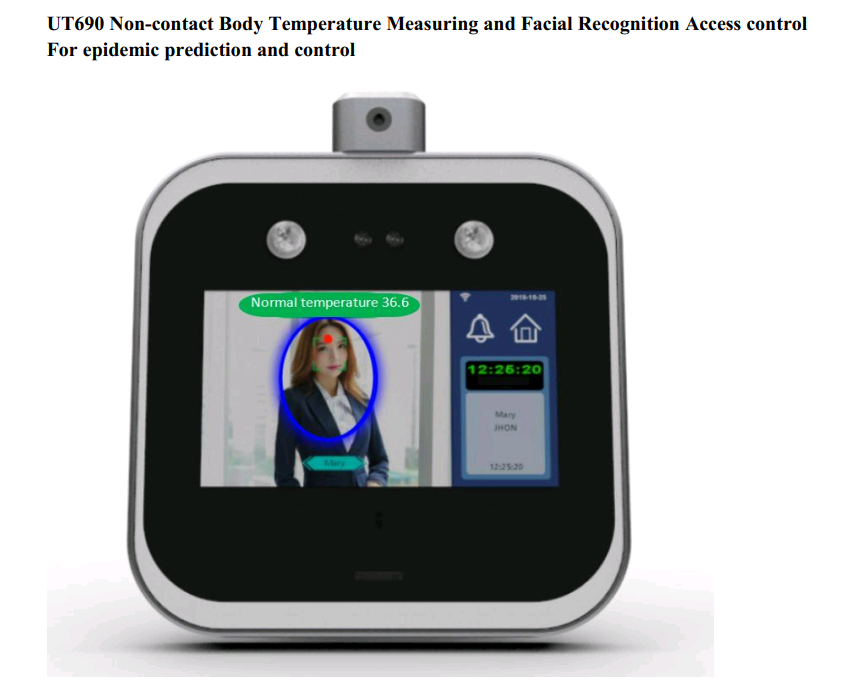 Face scanning temperature measurement system